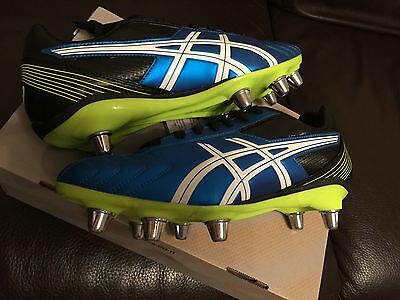 Asics Lethal Tackle Rugby Boots Adult Size 10.5 UK New.