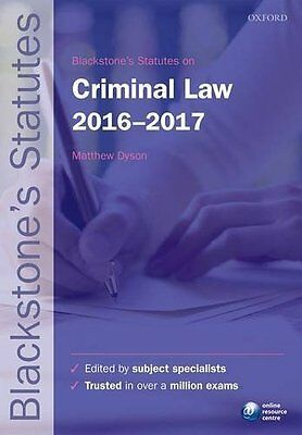 Blackstone's Statutes on Criminal Law 2016-2017 Paperback Book New