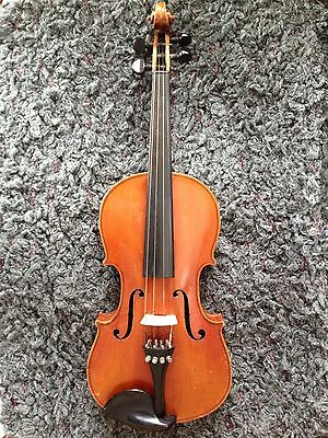 Old Violin with Case and P & H Bow