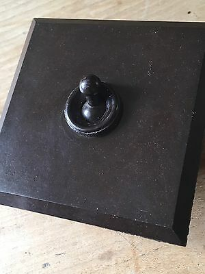 Crabtree Light Switch Industrial Bakerlite Antique Vintage Made In England