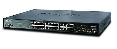 SWICH PLANET WGSW-24040  24-Port 10/100/1000Mbps with 4 Shared SFP Manajed swich