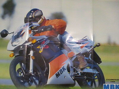 Poster 8 Pages Moto : Mbk Cyclomoteurs 1998 + Gamme 1998