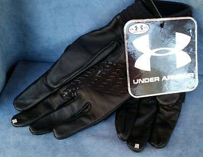 Under Armour Tactical Assault Gloves 1242619 Mens Large Black Leather NWT