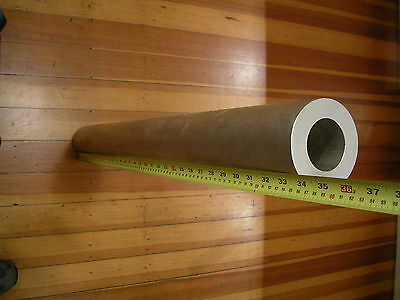"3.5"" OD X 0.75"" X 34"" heavy wall ALUMINUM 6061 round tube T6511, ALCOA, USA Made"