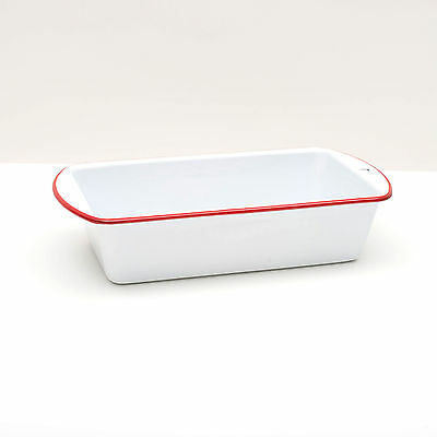 Crow Canyon Home Vintage Style Enamelware Bread Loaf Baking Pan