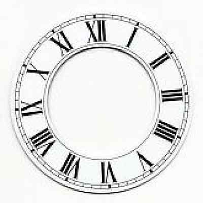 White Chapter Ring Clock Face Or Dial 125Mm Dia Roman Black Numerals Cr5W