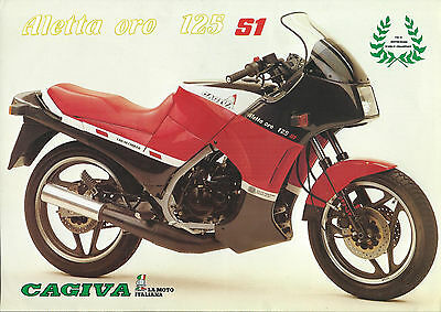 CAGIVA ALETTA ORO 125 S1      ,brochure,catalogue,prospekt original