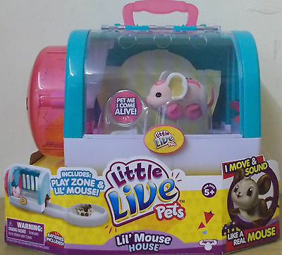 Little Live Pets S3 ~ Lil Mouse House ~ Angel Dancer ~ Includes Play Zone Mouse
