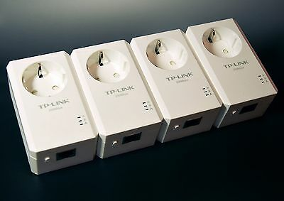 TP-LINK TL-PA2010PKIT / TL-PA2010P 200Mbps Nano Powerline Adapter 4er