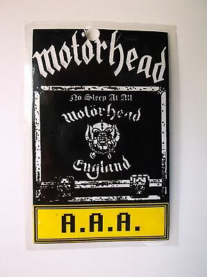 RARE MOTORHEAD All-AREA-ACCESS Laminate Back-Stage Pass NO SLEEP AT ALL TOUR 88