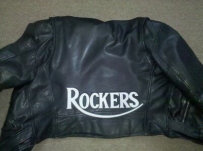 Rockers 13 inch synthetic leather back patch w/b, 59 Club.Triumph.Cafe Racer