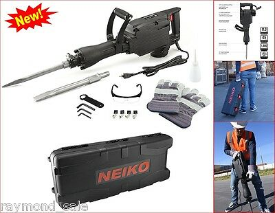 Neiko Hammer Jack Demolition Breaker Concrete Construction Electric 1240 Watts