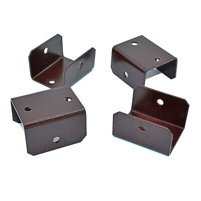 PACK OF 50 - 33mm WOODEN FENCE & TRELLIS CLIPS BRACKET PANEL FIXING GARDEN POST