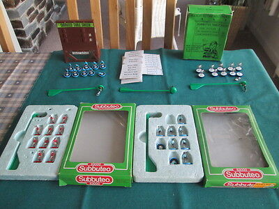 Collection Of Subbuteo Players And Vintage Scoreboard