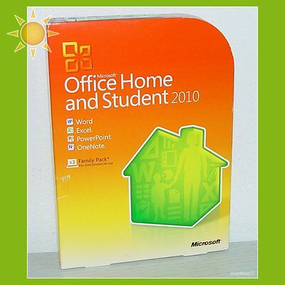 microsoft office 2010 home and student box 3 pc 39 s. Black Bedroom Furniture Sets. Home Design Ideas