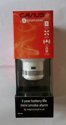 CAVIUS by SMARTWAVES - MINI SMOKE ALARM, Battery included (8711658465241)