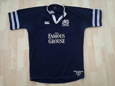 Scotland 2005 Match Worn Rugby Shirt /jersey/maillot- Look!! With C.o.a