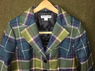 NEW! Old Stock green blue plaid cx WOMEN'S size 6 BLAZER wool PENDLETON usa-made