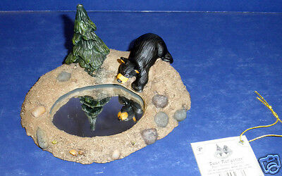NEW, Retired Big Sky Carvers Bearfoots by Jeff Fleming: #50332 Bear Reflection