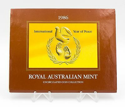 1986 Royal Australian Mint Coin Set - International Year of Peace