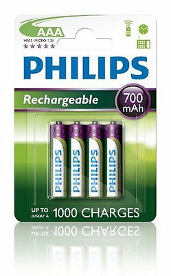 Philips MultiLife batterie NiMH AAA 700 mAh 4-pack NEW