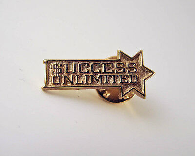 $uccess Unlimited - Gold Colored Lapel Pin - PinBack - Brooch