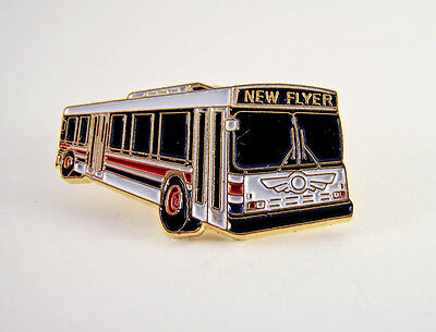 New Flyer Industries - Transit Bus - Lapel Pin - PinBack - Brooch