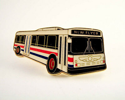 New Flyer Industries - Public Transit Bus - Lapel Pin - PinBack - Brooch