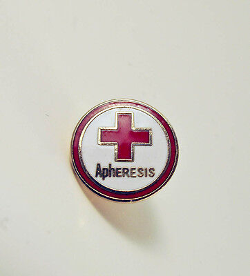 Apheresis Red Cross Pin - Lapel Pin - PinBack - Brooch