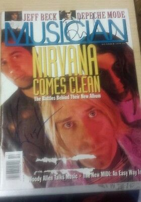 Signed Musician Magazine Nirvana Cover Kurt Cobain Dave Grohl
