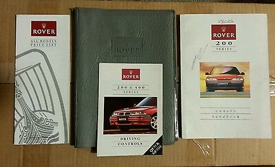 Rover 214, 216 GTi, 220 Turbo Coupe Handbook, Quick Guide & 1992 Price Lists