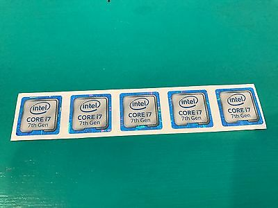 5x Intel Core i7 inside Sticker Case Badge 7th Generation Kaby Lake USA Seller!