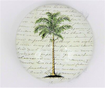 """Fab John Derian 'Palm Tree' Dome Paperweight"""