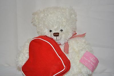 Hallmark From My Heart Stuffed Plush Soft Teddy Bear Zipper Pouch Beanie 14""
