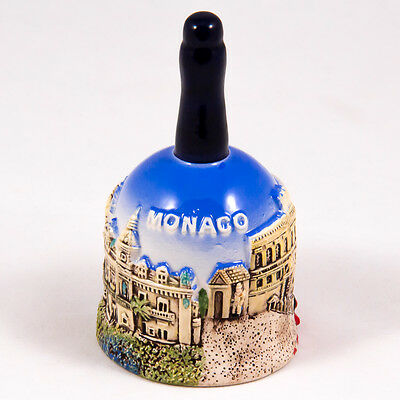 Decorative Bell: Monaco. Main Attractions of Monaco and Red Car