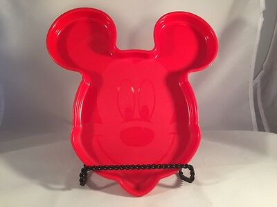 Tupperware Red Mickey Mouse Face Dinner Plate 375IA-I