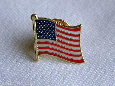 United States USA American Flag Country Metal Lapel Pin Badge