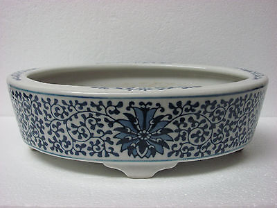 Fine Old Chinese Blue and White Porcelain Flower pot with mark
