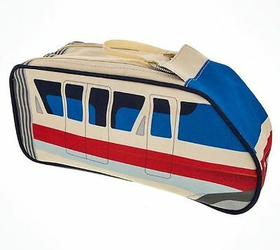 Disney Parks TAG Monorail Toiletry Bag Cosmetic Travel Pouch NEW WITH TAGS
