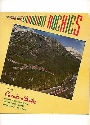 Vintage Travel Brochure Through The Canadian Rockies By The Canadian Pacific