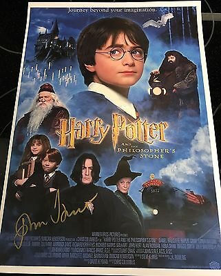 John Hurt Hand Signed Autograph Harry Potter Poster Photo Olivander Signature