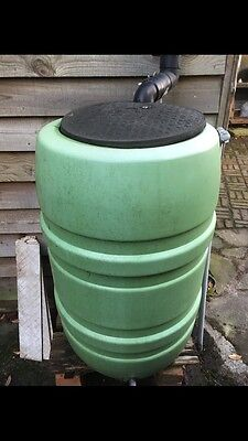 Large Green Water Butt With Lid Garden