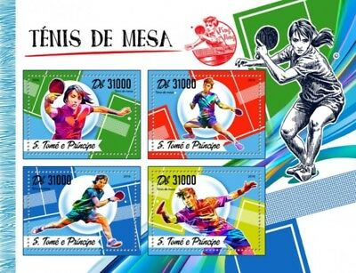 St Thomas - 2016 Table Tennis - 4 Stamp Sheet - ST16512a