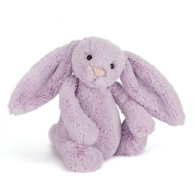 Jellycat Bashful Bunny Hyacinth Purple Soft Plush Stuffed Toy Jelly Cat 31 cm