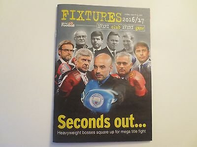 England 2016/2017 Premier League Fixtures List Booklet Every Club Every Game
