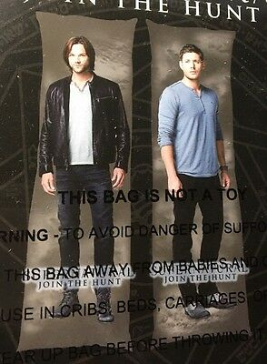 "SUPERNATURAL  Sam & Dean  Body Pillow Cover Case *Large Size* 18"" X 42"""