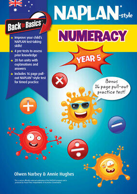 Back to Basics - NAPLAN-style Numeracy Year 5 NEW by Pascal Press 9781922225108
