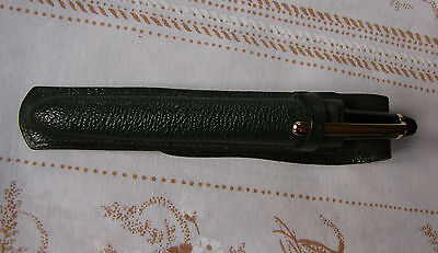 A Vintage Montblanc Green Leather Pen Pouch