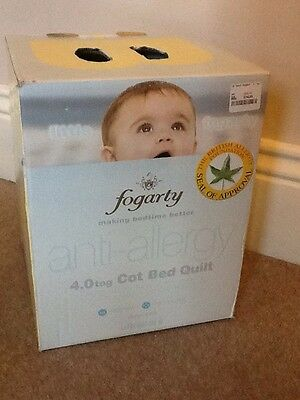 Little Fogarty Anti Allergy Cot / Cot Bed Quilt 120 x 150cm