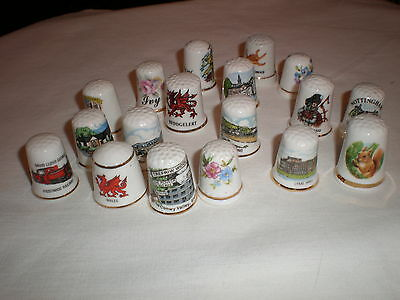 Job Lot 18   Assorted      Collectable Thimbles    All Good   Great Value